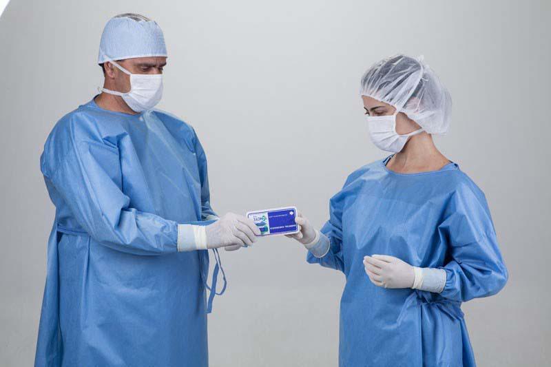 Avental cirúrgico descartável impermeável