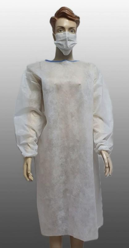 Avental de procedimento manga longa