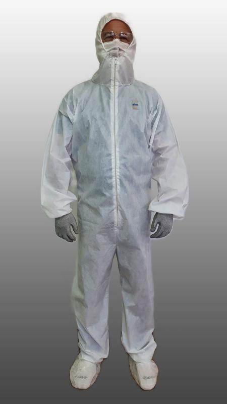 Macacão de segurança branco proteção química